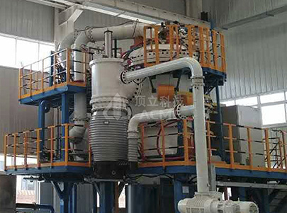 Vertical Double Chamber Vacuum Gas Cooling Oil Quenching Furnace