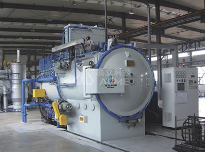 Horno de enfriamiento de gas de enfriamiento de aceite de vacío de cámara doble horizontal