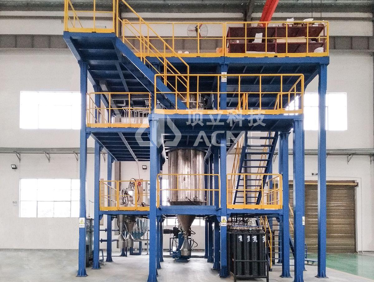 Zariadenia na výrobu prášku na atomizáciu plynu